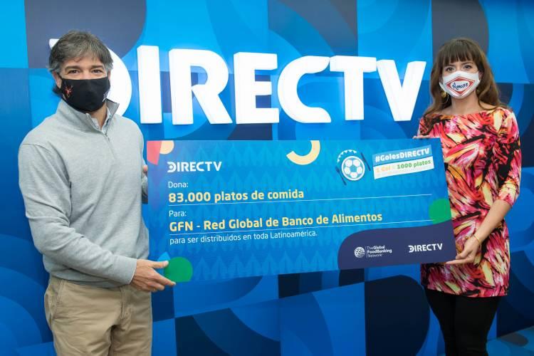 DirecTV transformó los 83 goles de la CONMEBOL Copa América en miles de plato de comidas